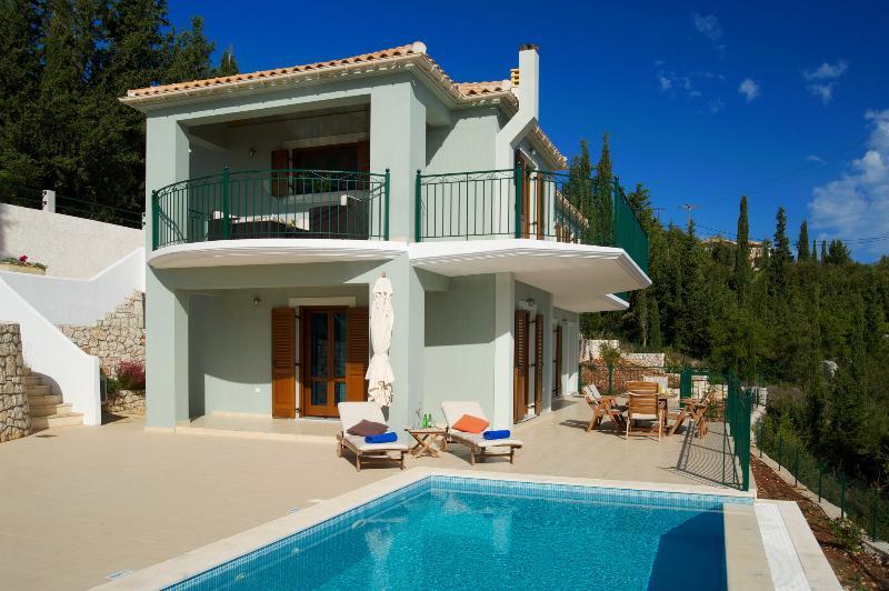 Pool side at Villa Vassilis