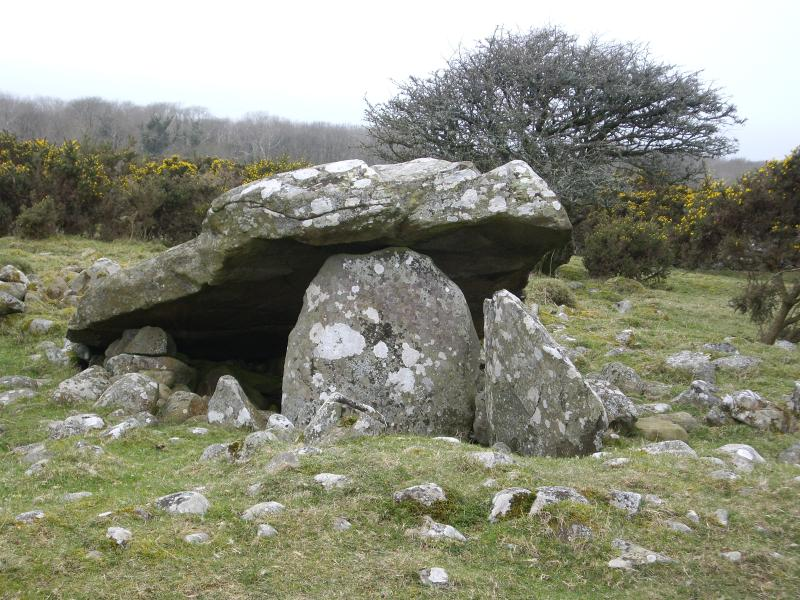 Neolithic burial chamber on local walk