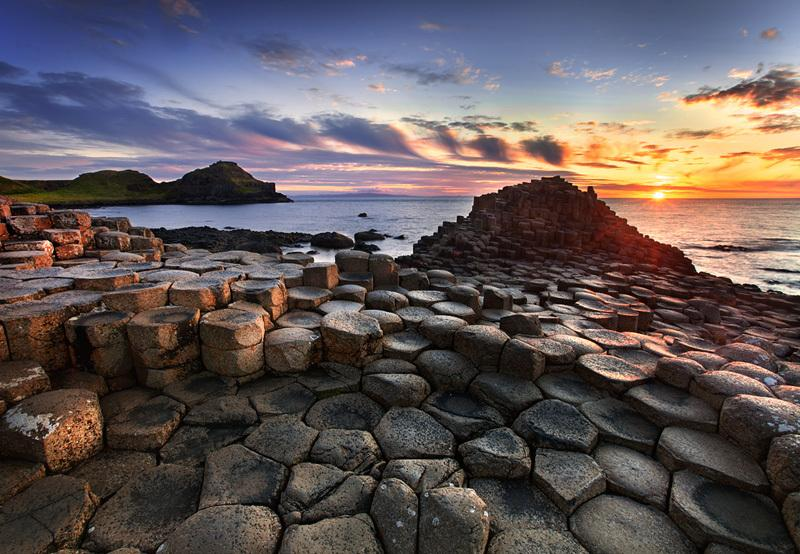 The spectacular Giant's Causeway is just 10 miles from Copperpot Cottage