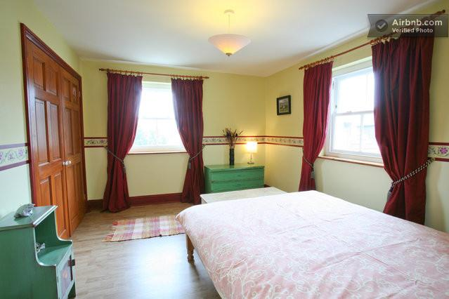 This is the bedroom with the double bed. Nice views to the rear of the Bathampton meadows