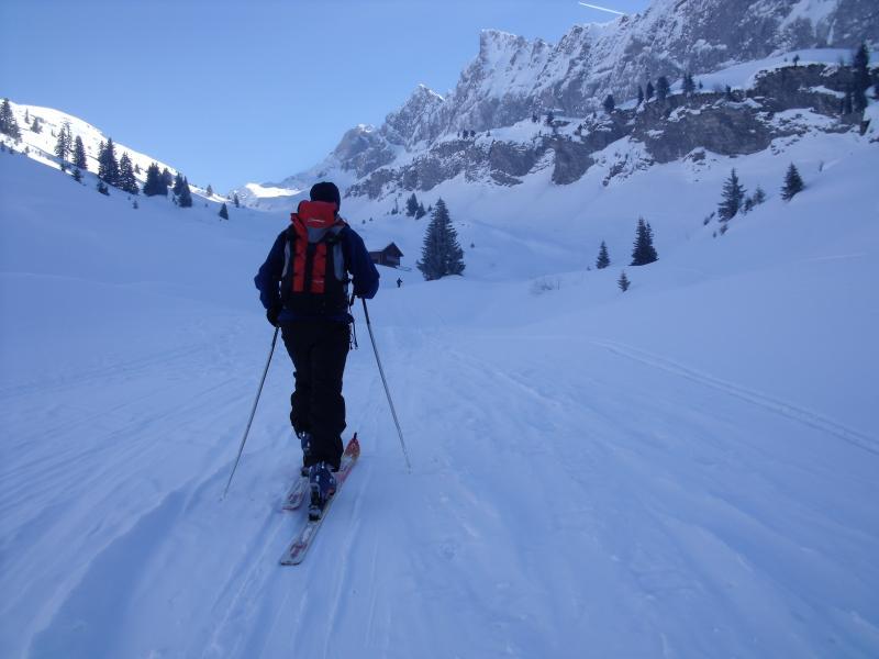 Ski touring in the stunning mountains around Sixt