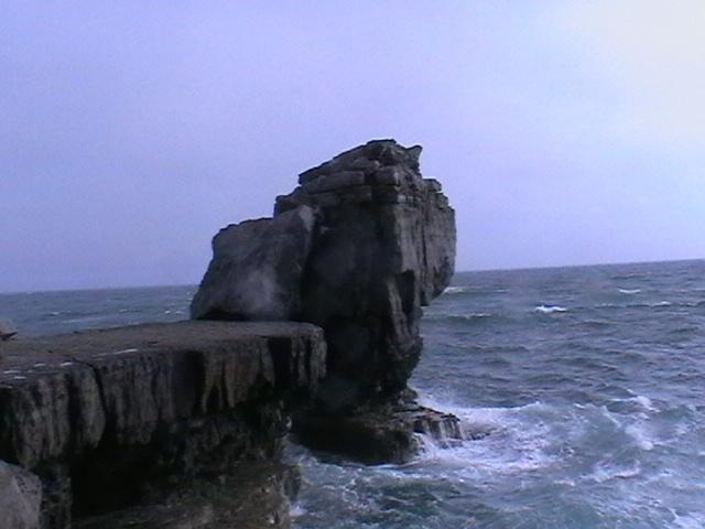 Le célèbre Pulpit Rock à Portland Bill