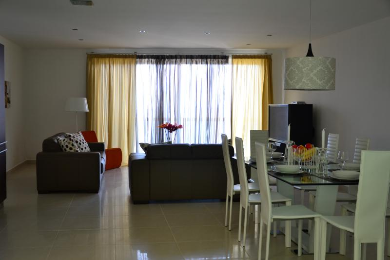 Dinning and living area