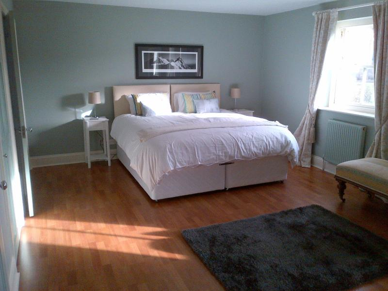 This bedroom can be made up with a massive Super King size double bed or with 2 singles!