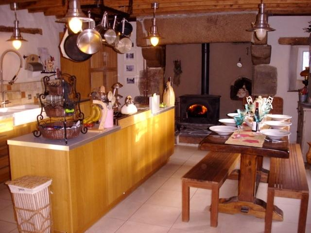 A truly French country kitchen perfect for family meals or a bottle of wine