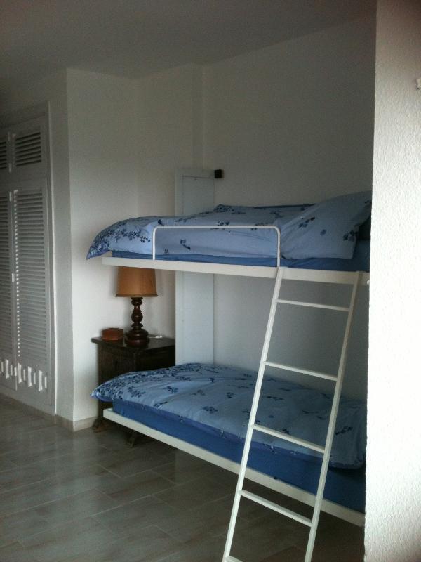 both bunk beds set up
