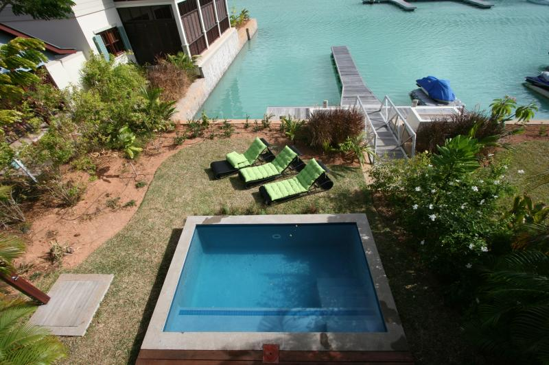 Private Splash Pool and mooring