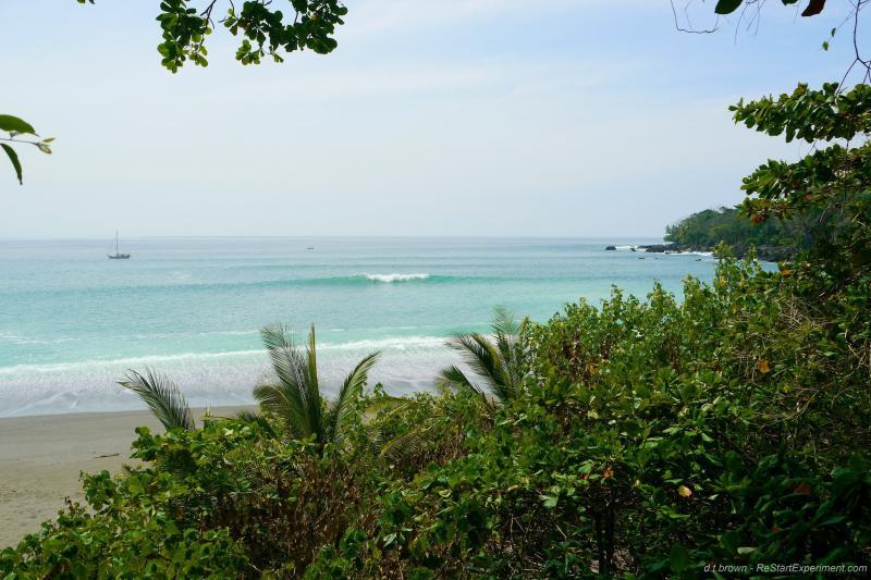 A beautiful beach near Cabinas Ola Mar in Cabo Matapalo, Osa Peninsula, Costa Rica