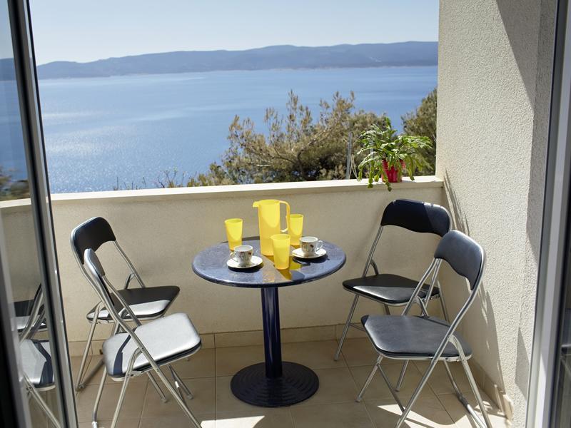 Sea view from the balcony to island Brac