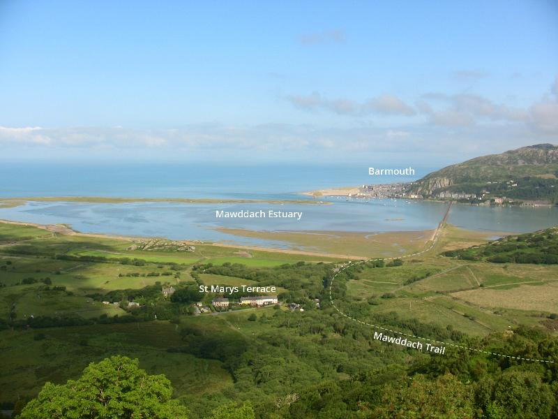The Mawddach Estuary viewed from one of the hills in front of the house...
