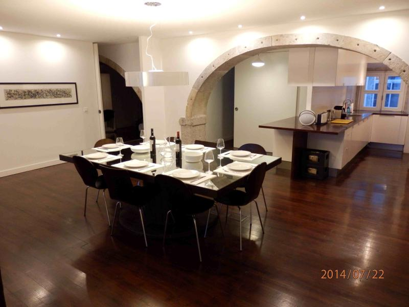 Dining room and kitchen view