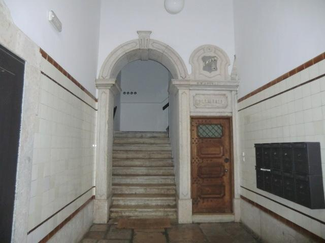 Apartment entrance door on right side only a few steps to the 145 sq meter apartment