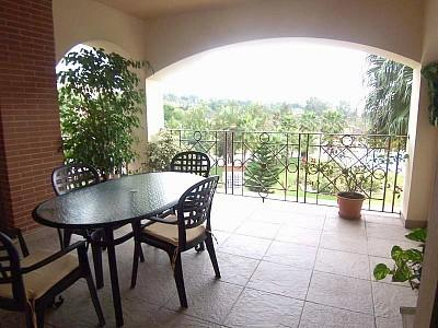 Large Terrace Overlooking the Pool & Gardens