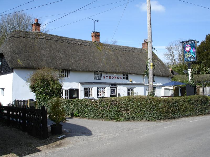 The Rose and Thistle pub in Rockbourne