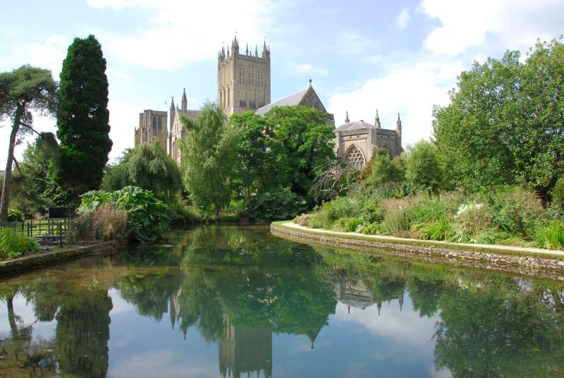 Wells Cathedral from the Bishop's garden