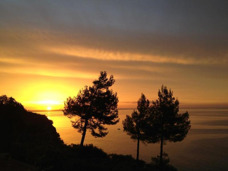 August sun rise