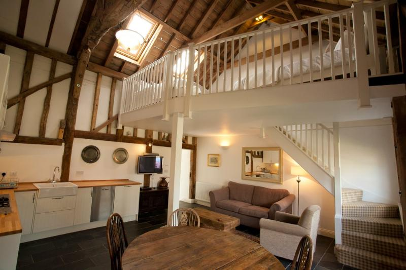 The Hay Loft Kitchen and Living Area