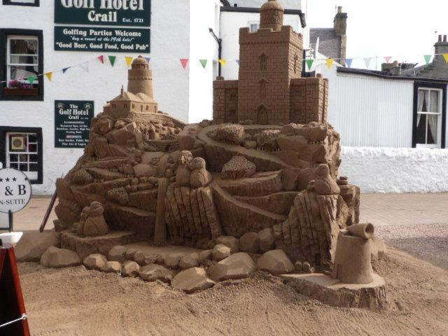 Sand sculpure made for Crail Festival Sculture of The May Island Just of Crail
