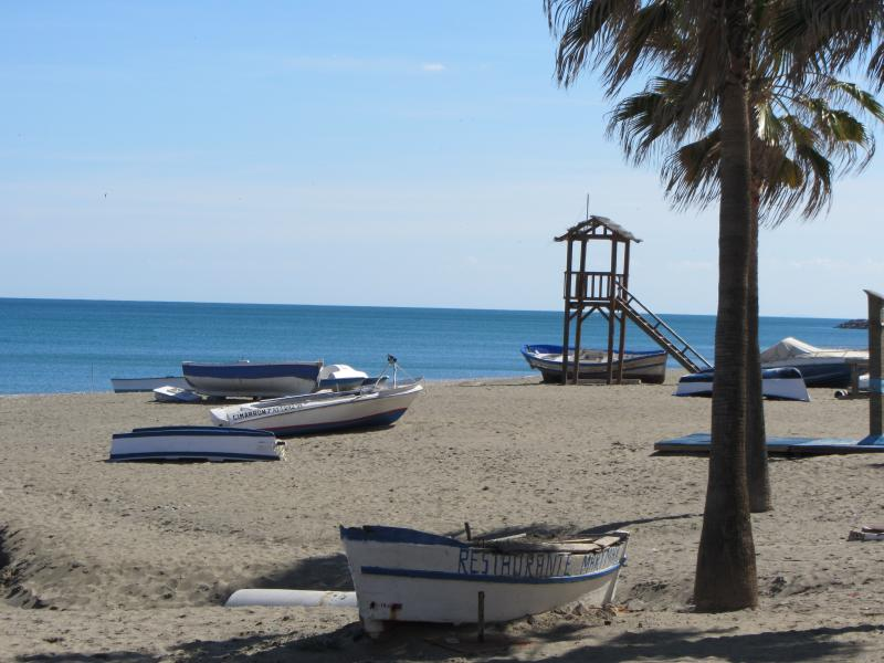Boats at Sabinillas beach.