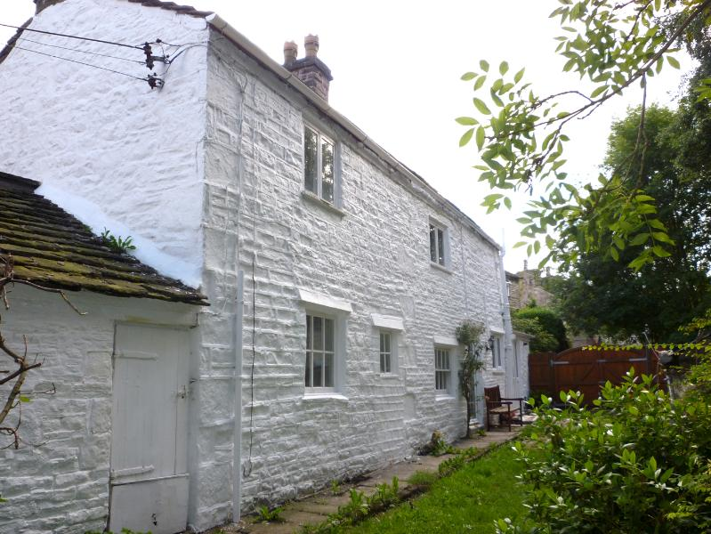 View of the cottage from the enclosed garden
