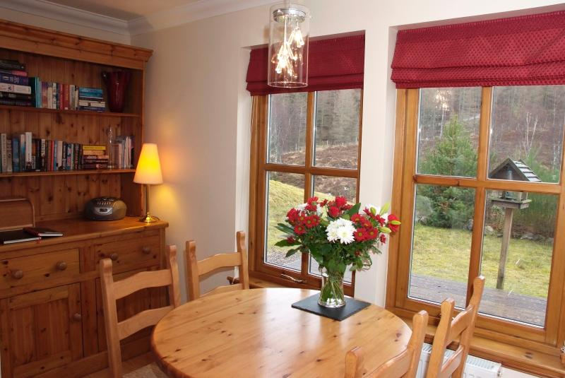 Dining area looking over the garden