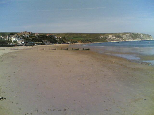 Swanage Beach just below  the House
