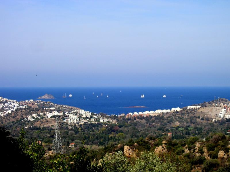 Bodrum Cup sailing races in October (from the house)