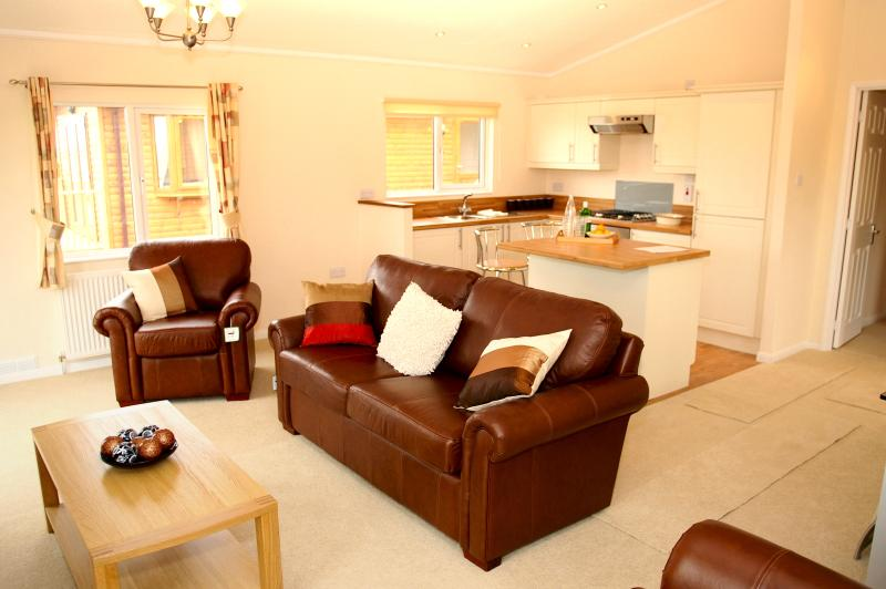 Example of open living in a 6 berth Lodge