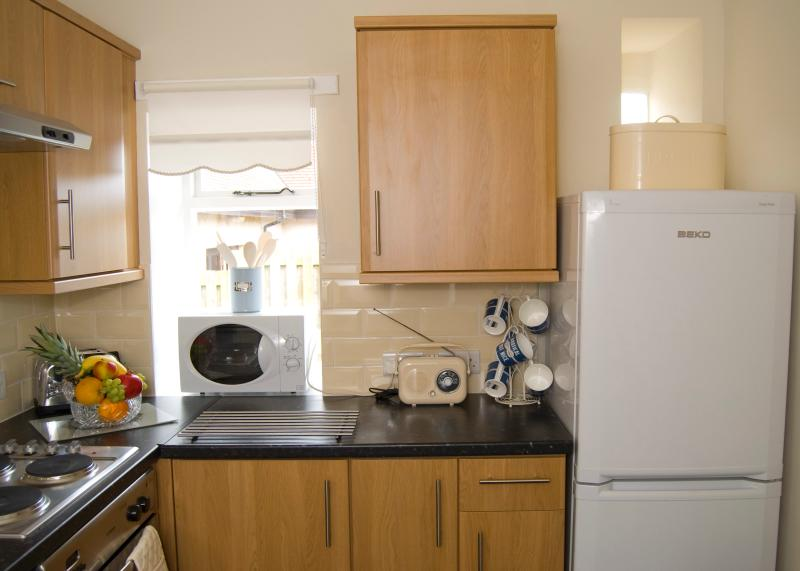 Bright kitchen fully equipped for your holiday needs