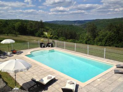A piscina privada com vista para a
