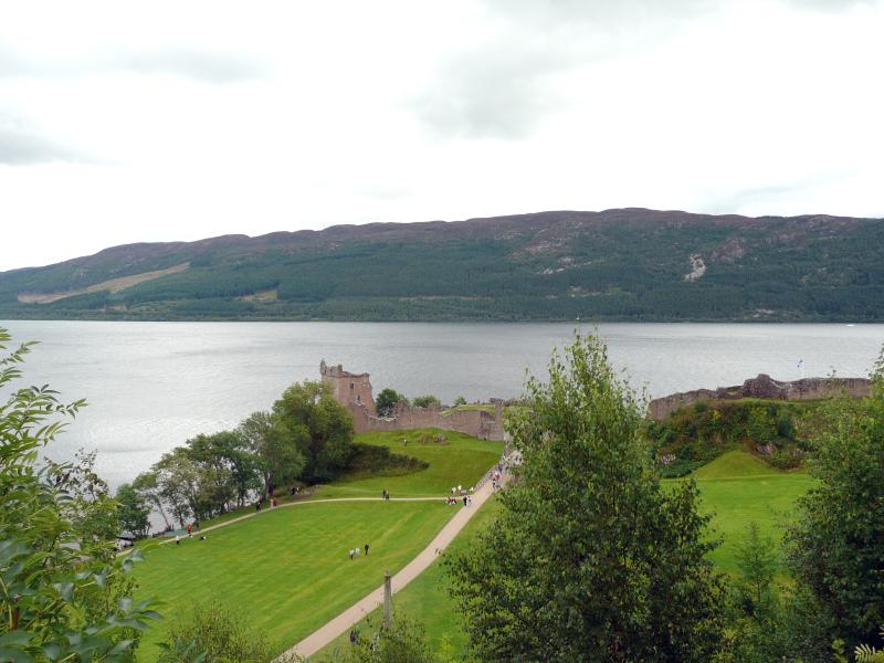 Urquhart castle on the shores of Loch  Ness 10 minutes from the cottage