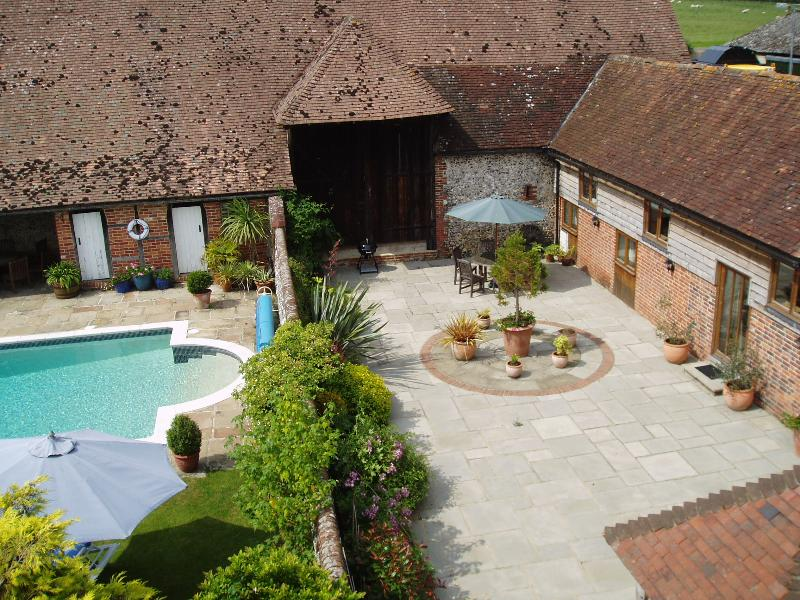 The Old Stables benefits from a large private patio garden