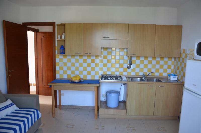 Das Sofa und die Küche