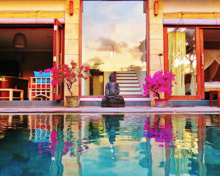 Just before sunset - Villa Caly luxury.