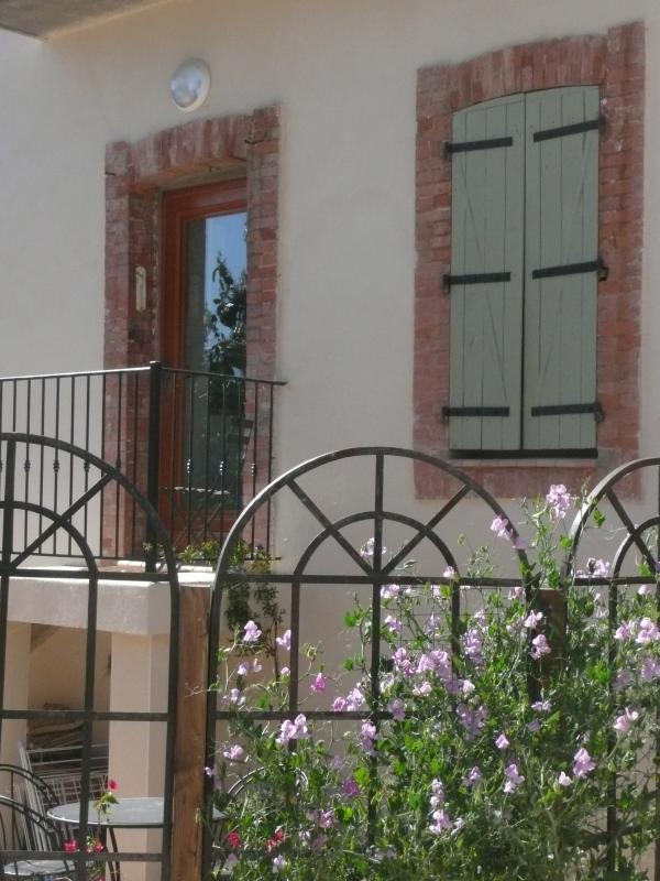 Your entrance to Gite Magnolia, with it's own garden space and use of the nearby herb garden