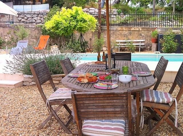 Enjoy meals outdoors, by the pool and in a lovely Mediterranean garden