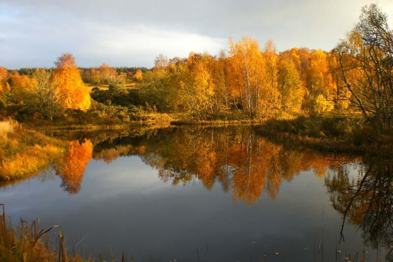 Hiddenglen loch in autumn.