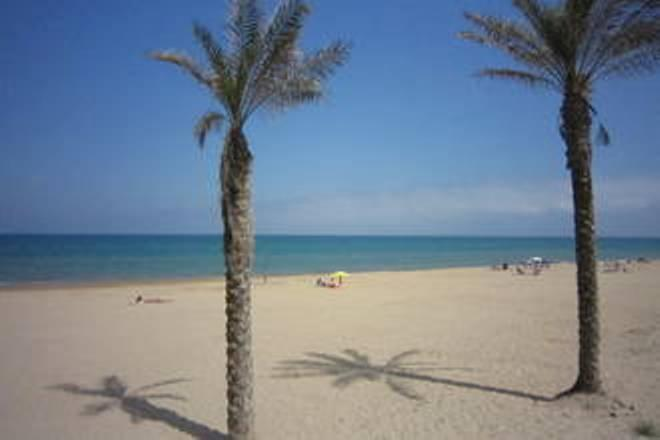 The beautiful beach of Guardamar del Segura.