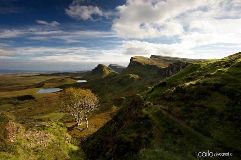 Looking along the trotternish ridge from the quiraing