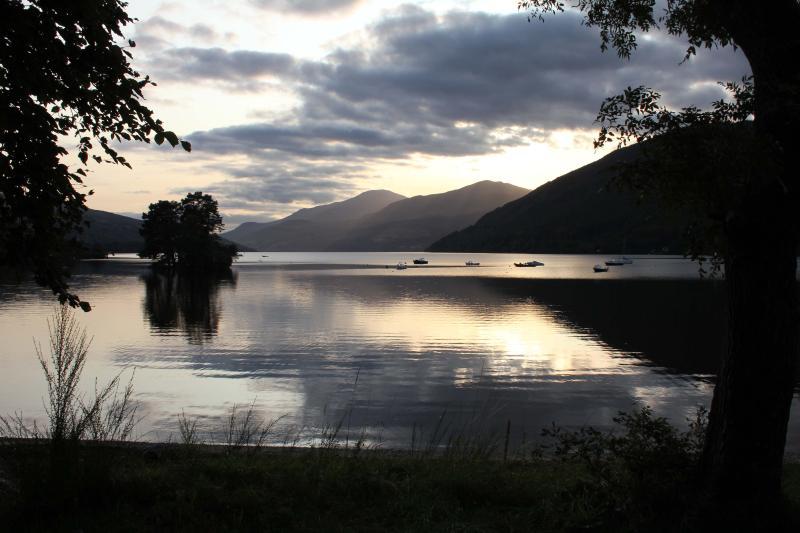 Coucher de soleil sur le Loch Tay