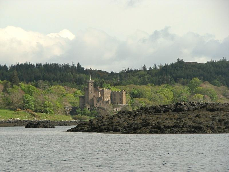 Dunvegan castle, the ancestral home of the clan MacLeod. One of the main attractions...