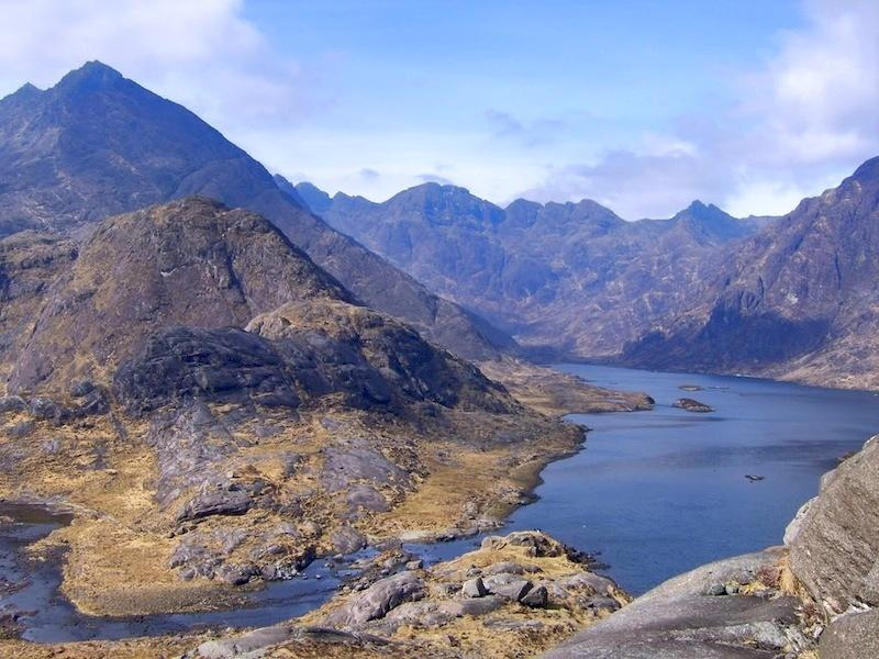 Loch Coruisk, a must see beauty spot. Various day trips are available.
