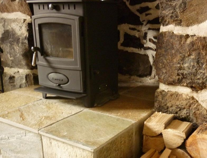 Wood burning stove for cosy evenings