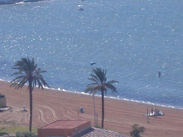 Playa del mar Menor vista desde el apartamento
