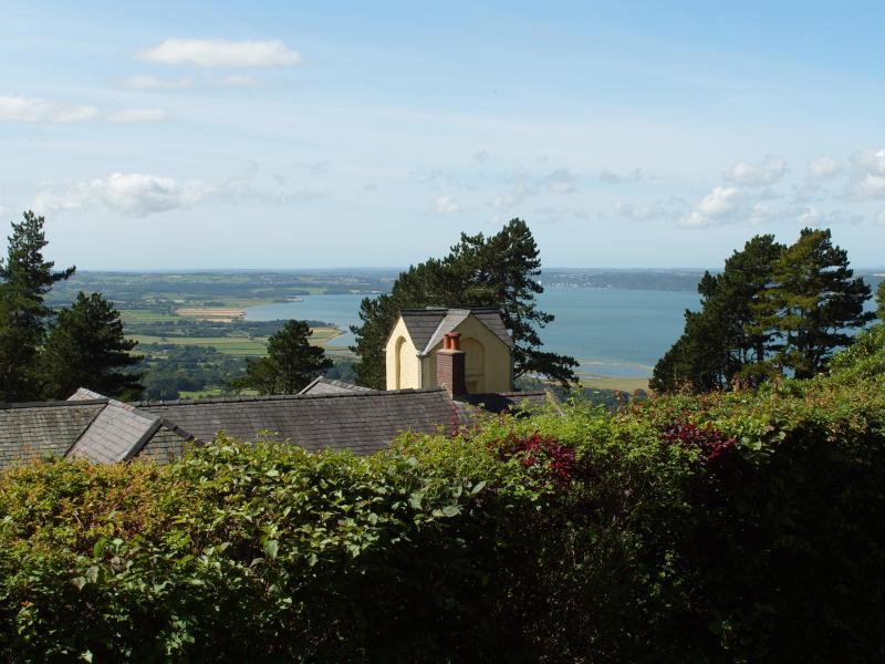 view from Conwy cottage at plas heulog