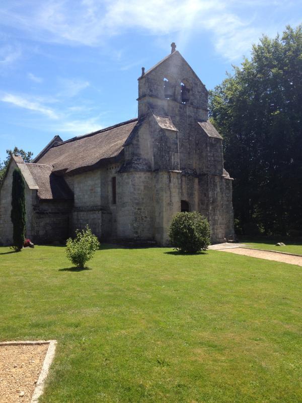 local thatched chapel near Treignac