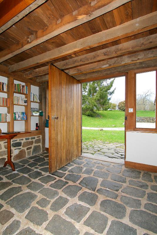 Entrance hallway looking out to the central courtyard and into the rear garden.