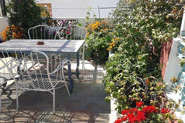 Casa Esquina terrace in the Summer