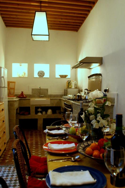 The Kitchen and Dining Room for breakfast and other specially prepared meals if required