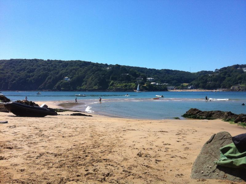 Salcombe  on the beach
